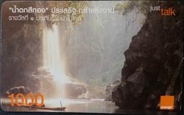 Mobilecard Thailand - Orange  - Landschaft - Wasserfall - Thaïland