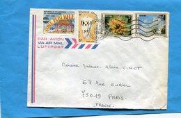 MARCOPHILIE-NOUVELLE CALEDONIE-Lettre Pour Françe-cad Tonioua 1984 Affrt Composé 4 Stamps*N°490-école+481 Coquillage+469 - Briefe U. Dokumente