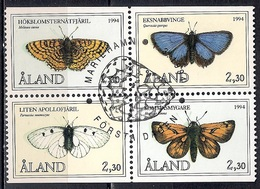 Aland 1994 - Butterflies - The 10th Anniversary Of Aaland Stamps - Aland