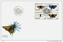Aland 1994 - FDC - Butterflies - The 10th Anniversary Of Aaland Stamps - Aland