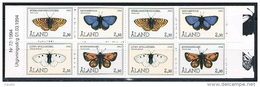 Aland 1994 - Mint Booklet Butterflies (2 Sets) - The 10th Anniversary Of Aaland - Aland