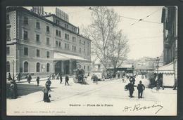 SUISSE GENEVE EN 1904  (GENEVE) ...PRECURSEUR....ANIMEE...PLACE DE LA POSTE....C3099 - GE Genève