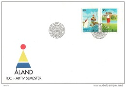 Aland 1995 FDC - Sports - Fishing And Golf - Aland
