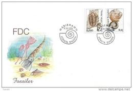 Aland 1996 FDC - Fossils - Aland