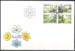 Aland 1997 - FDC - Flowers - Aland