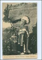 "U5398/ Sioux-Indianer Indians Familie Thomas ""Yellow Thunder""  Hamburg Hagenbeck - Native Americans"