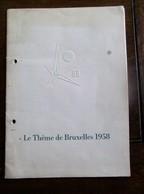 Boekje  LE THéME De BRUXELLES 1958 - Expositions