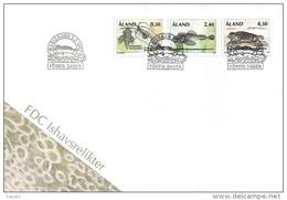Aland 1997 - FDC Ice Age Marine Life - Aland