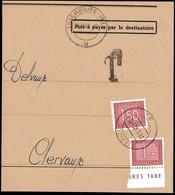 1962 Fragment De Lettre Taxe, Cachet Luxembourg-Ville 31.12.1962, Michel 2019: 30,31 - Postage Due
