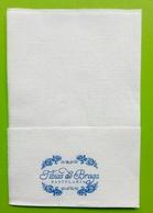 Servilleta,serviette .Tibias De Braga, Pastelaria. Braga.Portugal - Company Logo Napkins