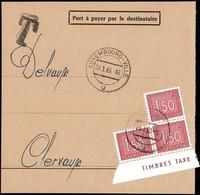 1963 Fragment De Lettre Taxe, Cachet Luxembourg-Ville 22.1.1963, Michel 2019: 3x31 - Postage Due