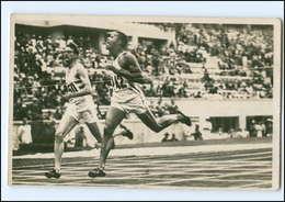 XX003208/ Olympiade Berlin 1936 Williams USA 400 Meter-Lauf Sieger Foto AK  - Olympische Spiele