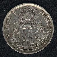 Brasilien, 1000 Reis 1913, Ohne Mzz., Silber, XF - Brazil