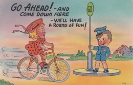 """COMIC; 1930-40s; """"Go Ahead! - And Come Down Here - We'll Have A Round Of Fun!"""" - Comics"""