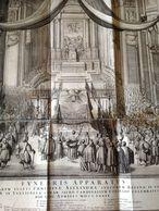 APPARATO FUNEBRE MARIA CRISTINA DI SVEZIA 1689 INC. NICOLAS DORIGNY - MOLTO RARA - - Litografia