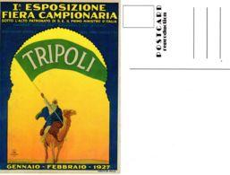 Februar 1927; Ansichtskarte Des Plakates Der 1. Fiera In Tripoli, Reproduktion , Los 51048 - Libyen