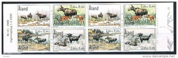 Aland 2000 - Mint Booklet (2 Sets) Aaland Wildlife - The Moose - Aland
