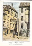 24-----SARLAT--hôtel Plamon--( Repro Gravure Du 19è Siècle )--voir 2 Scans - Sarlat La Caneda