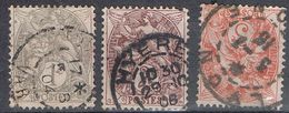 FRANCE : N° 107 à 109 Oblitérés  (Type Blanc) - PRIX FIXE : 1/3 De La Cote - - 1900-29 Blanc