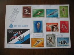FDC - Lettre 1964  -  République San Marino - Tokyo  1964 - FDC