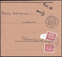 1963: Fragment De Lettre Taxes III, Cachet Diekirch 7.12.1962, Michel 2019: 30,31 - Postage Due