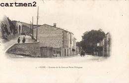 ELNE AVENUE DE LA GARE ET PORTE VALAGUER 1900 PYRENEES 66 - Elne