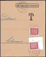 1962: Fragment De Lettre Taxes III, Cachet Luxembourg-Ville 11.12.1962, Michel 2019: 30,31 - Postage Due