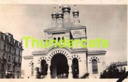 ANCIENNE PHOTO VINTAGE SNAP SHOT OUDE FOTO  -  1928 GENEVE EGLISE RUSSE - Lieux