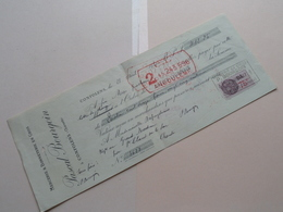 Pascal BOURGOIN ( Mercerie / Bonneterie ) CONFOLENS Charente ( Reçu / Mandat ) Anno 1937 ( Zie/voir Photo) ! - Bills Of Exchange