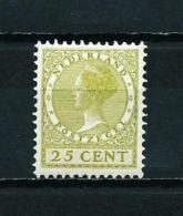 Holanda  Nº Yvert  181  En Nuevo* - Periodo 1891 – 1948 (Wilhelmina)