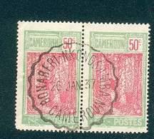 CAMEROUN KAMERUN N°119 Paire OB  Ferroviaire BONABERI NKONGSAMBA 26 JANVIER 1937 TB - Cameroun (1915-1959)