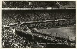 Netherlands, ROTTERDAM, Stadion Feijenoord Feyenoord 1950s Stadium Postcard RPPC - Voetbal