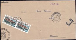1972: Fragment De Lettre Taxes III, Cachet Luxembourg-Ville 7.1.1972, Michel 2019: 2x833 - Postage Due