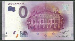 Billet Touristique 0 Euro 2016  L'Opéra Garnier  Paris - Essais Privés / Non-officiels