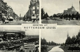 Netherlands, ROTTERDAM Zuid, Feyenoord Stadion, Multiview 1942 Stadium Postcard - Voetbal