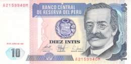 10 Intis Peru 1987 - Pérou