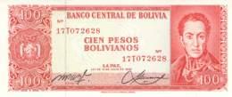 100 Pesos Bolivianos Boliven 1962 - Bolivien