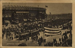 Netherlands, ROTTERDAM, Stadion Feyenoord De Kuip, Tram (1948) Stadium Postcard - Voetbal