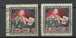 LATVIA Lettland 1921 Michel 67 - 68 Y O - Lettonie