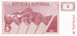 5 Tolar Slowenien 1992 - Slovénie