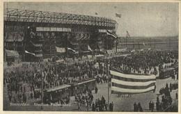 Netherlands, ROTTERDAM, Stadion Feyenoord De Kuip, Tram (1940s) Stadium Postcard - Voetbal