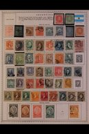 \Y ARGENTINA\Y 1850's-1990's. ALL DIFFERENT Mint & Used Collection, Chiefly On Printed Pages, Collection Strength In Pre - Timbres
