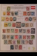 \Y AUSTRIA\Y 1850's-1990's. ALL DIFFERENT Mint & Used Collection, Chiefly On Printed Pages, Collection Strength In Pre 1 - Timbres