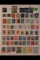 \Y BRAZIL\Y 1840's-1990's. ALL DIFFERENT Mint & Used Collection, Chiefly On Printed Pages, Collection Strength In Pre 19 - Timbres