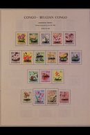 \Y CONGO - DEMOCRATIC REPUBLIC\Y 1960-1971 ALL DIFFERENT Mint & Used Collection On Printed Pages With Complete Sets Mint - Timbres