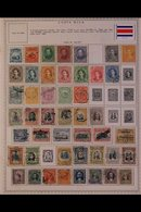 \Y COSTA RICA\Y 1863-1993 ALL DIFFERENT Mint & Used Collection On Printed Pages, Many Complete Sets, Useful Air Post Ran - Timbres