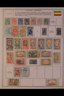 \Y ETHIOPIA\Y 1890's-1980's. ALL DIFFERENT Mint & Used Collection Presented Mostly On Printed Pages, Many Complete Sets - Timbres