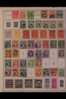 \Y GUATEMALA\Y 1870's-2000's. ALL DIFFERENT Mint & Used Collection On Printed Pages, Many Complete Sets, Collection Stre - Timbres