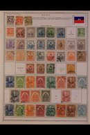 \Y HAITI\Y 1880's-1980's. ALL DIFFERENT Mint & Used Collection On Printed Pages, Many Complete Sets Inc Red Cross Issues - Timbres