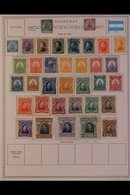 \Y HONDURAS\Y 1860's - 1980's. ALL DIFFERENT Mint & Used Collection On Printed Pages, Many Complete Sets, 19th Century R - Timbres